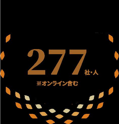 企業と個人 合計参加者数 277社・人 ※オンライン含む